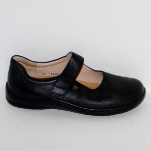 Finn Comfort Germany Black Leather Mary Janes